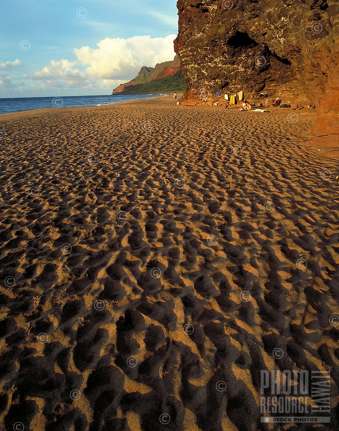 Camping, Kalalau beach, Kauai