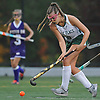 Julia Pascarella #19 of Carle Place moves the ball downfield during the Nassau County varsity field hockey Class C final against Oyster Bay at Adelphi University on Saturday, Oct. 28, 2017. She and teammate Emiline Biggin (not in picture) scored two goals each in Carle Place's 5-0 win.