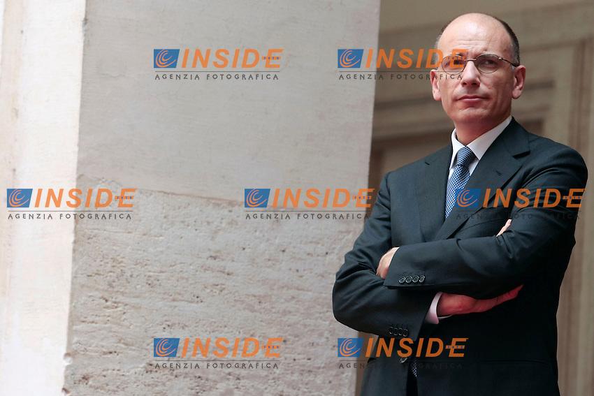 Enrico Letta<br /> Roma 04/07/2013 Palazzo Chigi. Il Premier italiano incontra il Premier Libico.<br /> Italian Premier meets Libic Premier.<br /> Photo Samantha Zucchi Insidefoto