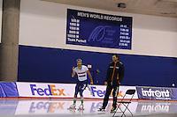SPEEDSKATING: CALGARY: 12-11-2015, Olympic Oval, training, Kai Verbij en Gerard van Velde, ©foto Martin de Jong