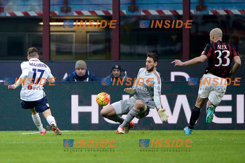 Occasione Emanuele Giaccherini Bologna<br /> Milano 6-01-2016 Stadio Giuseppe Meazza - Football Calcio Serie A Milan - Bologna. Foto Giuseppe Celeste / Insidefoto