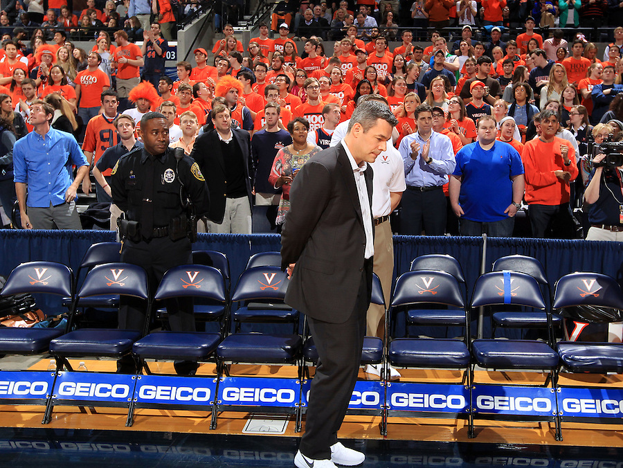 Virginia head coach Tony Bennett during the game Jan. 22, 2015, in Charlottesville, Va. Virginia defeated Georgia Tech 57-28.