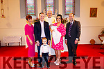 Quinn McCarthy Christening <br /> <br /> <br /> Maureen McCarthy <br /> <br /> Florence McCarthy <br /> <br /> Florence McCarthy Jnr <br /> <br /> Alanna McCarthy <br /> <br /> Baby Quinn McCarthy <br /> <br /> Danny Quinn <br /> <br /> Fr John Kearn <br /> <br /> In Dawros Church 02-11-2019