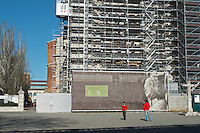 Iglesia de San Pablo church undergoing renovation Valladolid spain castile and leon
