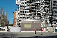 Iglesia de San Pablo church undergoing renovation Valladolid spain castile and leon