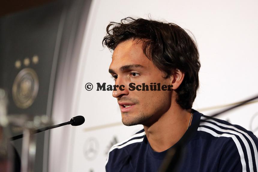 Mats Hummels - Pressekonferenz der Deutschen Nationalmannschaft, Hyatt Mainz