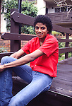 MICHAEL JACKSON 1981 at his Encino Condo.