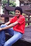 MICHAEL JACKSON 1981 at his Encino Condo.