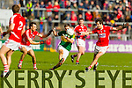 Alan Fitzgerald Kerry in action against Jamie O'Sullivan Cork in the National Football League at Pairc Ui Rinn, Cork on Sunday.