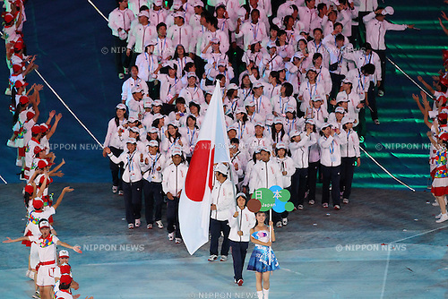 Japan Delegation (JPN), ..AUGUST 12, 2011 - Opening Ceremony : ..The 26th Summer Universiade 2011 Shenzhen ..Opening Ceremony ..at Main Stadium of Universiade Center, Shenzhen, China. ..(Photo by YUTAKA/AFLO SPORT) [1040]