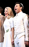 "Kelli O'Hara, Corbin Bleu during the Broadway Opening Night Curtain Call for ""Kiss Me, Kate""  at Studio 54 on March 14, 2019 in New York City."