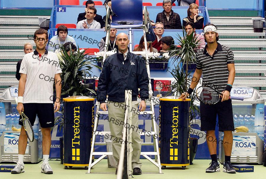 Tennis.Gemax Open 2010, FINAL.Ilija Bozoljac Vs. Karol Beck (SVK).Belgrade, 19.02.2010..foto: Srdjan Stevanovic©