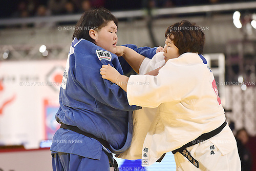 (L-R) Sara Asahina, Nami Inamori (JPN), DECEMBER 7, 2014 - Judo : IJF Grand Slam Tokyo 2014 International Judo Tournament Women's +78kg Final at Tokyo Metropolitan Gymnasium, Tokyo, Japan. (Photo by AFLO)