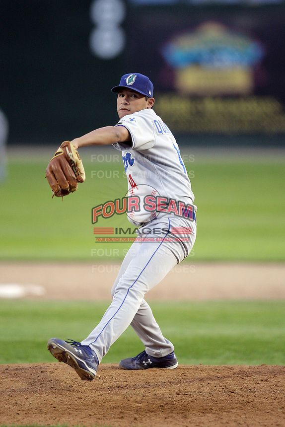 August 12, 2009: Fredy Qunitero of the Ogden Raptors. The Ogden Raptors are the Pioneer League affiliate of the Los Angeles Dodgers. Photo by: Chris Proctor/Four Seam Images