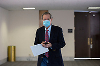 United States Senator Mike Crapo (Republican of Idaho) departs the Senate GOP Policy Luncheons at the Hart Senate Office Building  in Washington D.C., U.S., on Wednesday, May 20, 2020.  Credit: Stefani Reynolds / CNP/AdMedia
