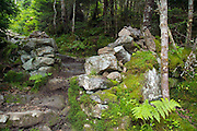 Stone gate along Edmands Path in the White Mountains, New Hampshire USA