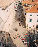 CROATIA, Dubrovnik,  Dalmatian Coast, high angle view of busy Dubrovnik street