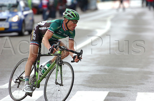 11.04.2012 Flemish Brabant, Belgium. Flanders Classics Brabantse Pijl. Thomas Voeckler (Europcar) won the Brabantse Pijl after a solo breakaway in the Flemish Brabant region of Belgium.