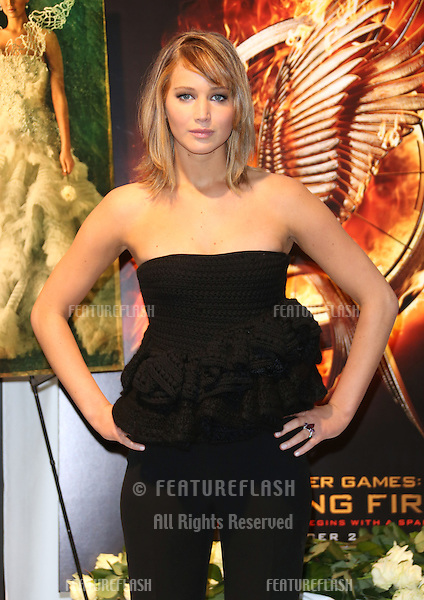 Jennifer Lawrence at the 66th Cannes Film Festival - The Hunger Games: Catching Fire - photocall. 18/05/2013 Picture by: Henry Harris / Featureflash