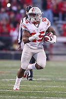 College Park, MD - November 12, 2016: Ohio State Buckeyes running back Mike Weber (25) runs the ball during game between Ohio St. and Maryland at  Capital One Field at Maryland Stadium in College Park, MD.  (Photo by Elliott Brown/Media Images International)
