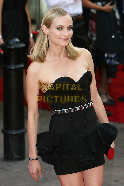DIANE KRUGER .UK Premiere of 'Inglourious Basterds' at the Odeon, Leicester Square, London, England. .July 23rd, 2009.half length black dress strapless chain belt clutch bag.CAP/MAR.© Martin Harris/Capital Pictures.
