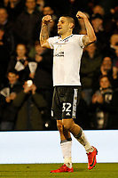 GOAL - Aleksandar Mitrovic of Fulham FC nets his second during the Sky Bet Championship match between Fulham and Sheff United at Craven Cottage, London, England on 6 March 2018. Photo by Carlton Myrie.