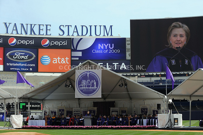 WWW.ACEPIXS.COM . . . . . ....May 13 2009, New York City....NYU's 177th Commencement ceremony at Yankee Stadium on May 13, 2009 in the Bronx, New York City.....Please byline: KRISTIN CALLAHAN - ACEPIXS.COM.. . . . . . ..Ace Pictures, Inc:  ..tel: (212) 243 8787 or (646) 769 0430..e-mail: info@acepixs.com..web: http://www.acepixs.com