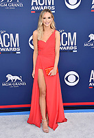 LAS VEGAS, CA - APRIL 07: Lauren Bushnell attends the 54th Academy Of Country Music Awards at MGM Grand Hotel &amp; Casino on April 07, 2019 in Las Vegas, Nevada.<br /> CAP/ROT/TM<br /> &copy;TM/ROT/Capital Pictures
