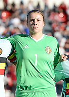 20171024 - PENAFIEL , PORTUGAL :  Belgian Justien Odeurs pictured during a women's soccer game between Portugal and the Belgian Red Flames , on tuesday 24 October 2017 at Estádio Municipal 25 de Abril in Penafiel. This is the third game for the  Red Flames during the Worldcup 2019 France qualification in group 6. PHOTO SPORTPIX.BE | DAVID CATRY