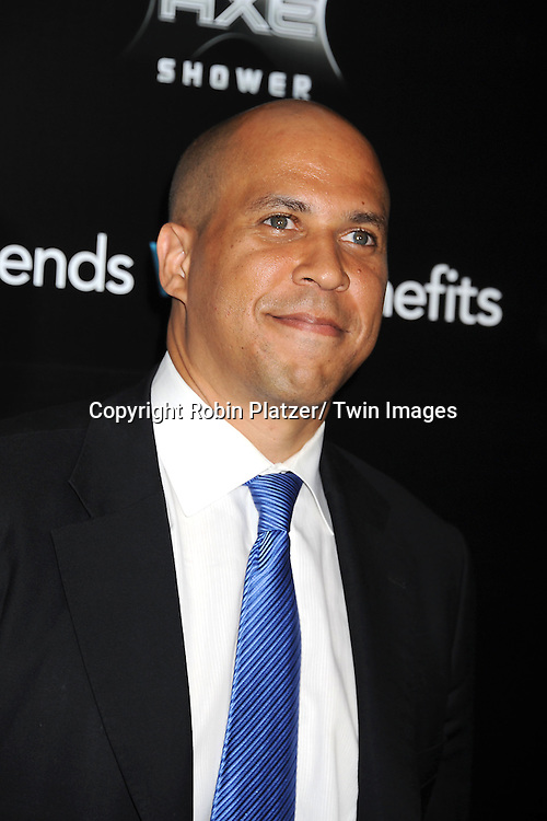 "Cory Booker attending the New York Premiere of ""Freinds With Benefits"" on July 18, 2011 at The Ziegfeld Theatre in New York City. The movie stars Justin Timberlake, Mila Kunis, Emma Stone, Patricia Clarkson, Jenna Elfman and Bryan Greenberg."
