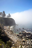 USA, California, Big Sur, Esalen, view of the coastline and the Pacific Ocean looking South from the observation deck near the Murphy House