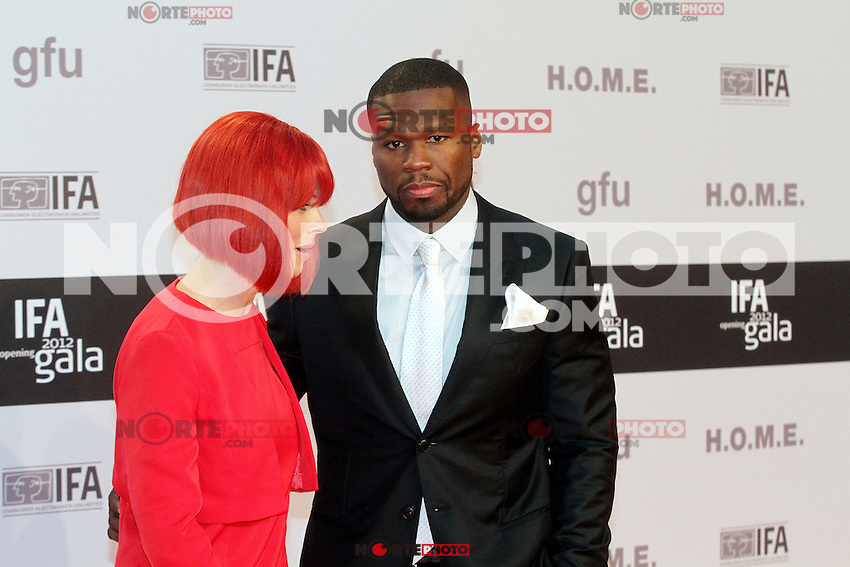 "50 Cent aka Curtis James Jackson III and Miss IFA attending the ""IFA Opening Gala"" at the Palais am Funkturm. Berlin, Germany, 30.08.2012...Credit: Semmer/face to face"