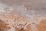 Aerial - Desert part of the Anna Creek station near Lake Eyre. Salt encrusted shores of Lake Eyre north.