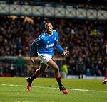 20.02.2020 Rangers v SC Braga: Joe Aribo celebrates his goal for Rangers