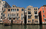 Venice-Italy - March 28, 2010 -- Houses / palazzos on Grand Canal / Canal Grande (not: Canale Grande) -- infrastructure, architecture, water -- Photo: © HorstWagner.eu
