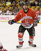 Randy Guzior (NU - 13) - The Northeastern University Huskies defeated the Harvard University Crimson 3-1 in the Beanpot consolation game on Monday, February 12, 2007, at TD Banknorth Garden in Boston, Massachusetts.