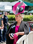 June 8, 2019 : A woman dresses up for Belmont Stakes Festival Saturday at Belmont Park in Elmont, New York. Scott Serio/Eclipse Sportswire/CSM