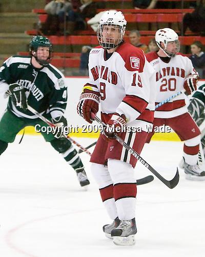 Joe Gaudet (Dartmouth - 19) - The Harvard University Crimson defeated the Dartmouth College Big Green 4-1 (EN) on Monday, January 18, 2010, at Bright Hockey Center in Cambridge, Massachusetts.