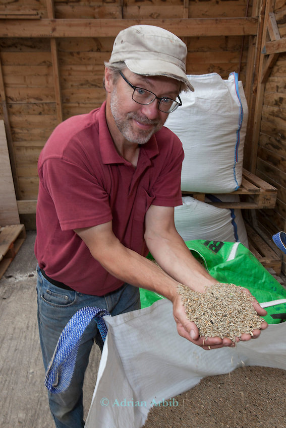 John Letts, Heritage  grains.<br /> <br /> Einkorn.   The first wheat grown by humans in the Neolithic period, 10,000 years ago.<br /> It's a very small, nutritious grain and suitable for people with Gluten intolerance.