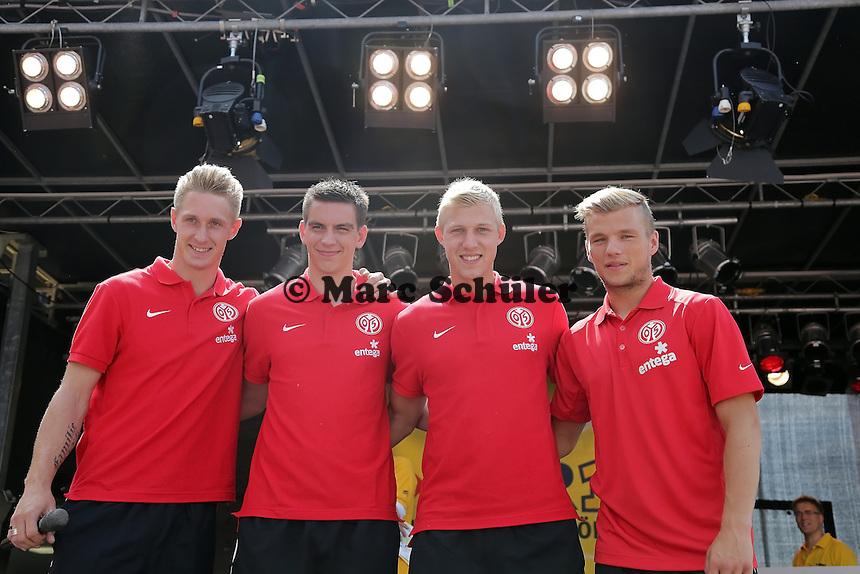 Neuzugänge Sebastian Polter, Christoph Moritz, Julian Koch und Johannes Geis (Mainz 05)