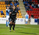 Carlos Peña scores for Rangers and celebrates