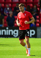 Lincoln City's Michael O'Connor during the pre-match warm-up<br /> <br /> Photographer Andrew Vaughan/CameraSport<br /> <br /> The EFL Sky Bet League Two - Lincoln City v Swindon Town - Saturday August 11th 2018 - Sincil Bank - Lincoln<br /> <br /> World Copyright &copy; 2018 CameraSport. All rights reserved. 43 Linden Ave. Countesthorpe. Leicester. England. LE8 5PG - Tel: +44 (0) 116 277 4147 - admin@camerasport.com - www.camerasport.com