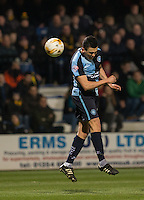 Luke O'Nien of Wycombe Wanderers in action during the Sky Bet League 2 match between Cambridge United and Wycombe Wanderers at the R Costings Abbey Stadium, Cambridge, England on 1 March 2016. Photo by Andy Rowland / PRiME Media Images.