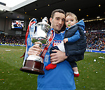 Lee Wallace with the SFL Division 3 trophy