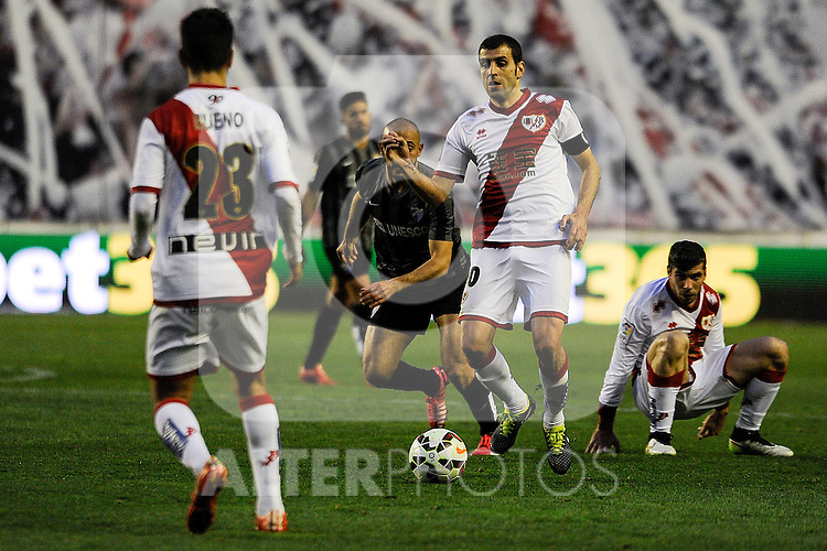 Rayo Vallecano´s Roberto Trashorras during 2014-15 La Liga match between Rayo Vallecano and Malaga CF at Rayo Vallecano stadium in Madrid, Spain. March 21, 2015. (ALTERPHOTOS/Luis Fernandez)