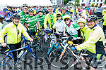 Gerry Lee, Denis Sugrue, Ger Carroll, John McAdams, Brian O'Shea, Patricia Reynolds, Mike Griffin, Helen Fitzgibbon, Geraldine Stack Paudie Dineen, Na Gaeil Cycling Club, Tralee, who took part in the Ring of Beara Cycle in Kenmare on Saturday morning last.