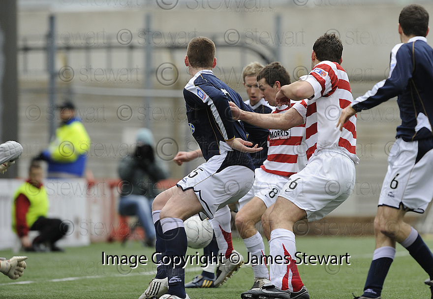 15/03/2008    Copyright Pic: James Stewart.File Name : sct_jspa01_hamilton_v_dundee.JAMES MCARTHUR SCORES HAMILTON'S FIRST.James Stewart Photo Agency 19 Carronlea Drive, Falkirk. FK2 8DN      Vat Reg No. 607 6932 25.Studio      : +44 (0)1324 611191 .Mobile      : +44 (0)7721 416997.E-mail  :  jim@jspa.co.uk.If you require further information then contact Jim Stewart on any of the numbers above........