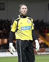 Veteran goalkeeper Craig Nelson in the St Mirren v Brechin City William Hill Scottish Cup Round 4 match played at St Mirren Park, Paisley on 1.12.12.
