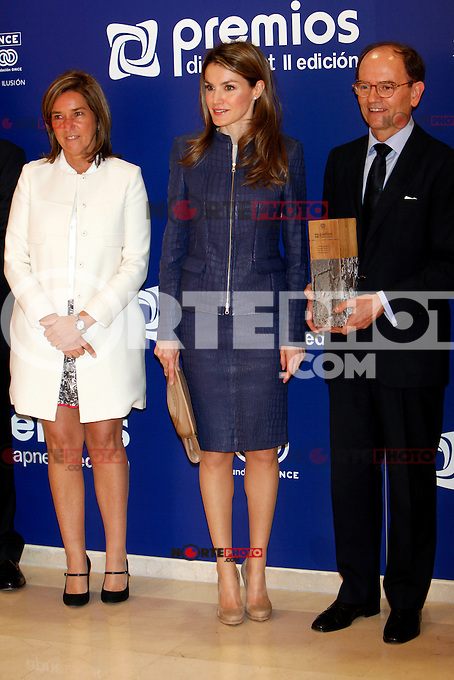 Spanish Minister of Health, Social services and Equality  Ana Mato and Princess Letizia of Spain attend 'Discapnet Awards' 2013 at the ONCE building in Madrid, Spain. March 11, 2013. (ALTERPHOTOS/Caro Marin) /NortePhoto