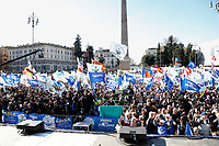 General view<br /> Rome December 8th 2018. Rally of Lega Nord Party 'Italians first' in Piazza del Popolo.<br /> Foto Insidefoto